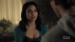 Season 1 Episode 11 To Riverdale and Back Again Veronica 'booty call'