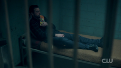 Season 1 Episode 13 The Sweet Hereafter FP in his cell 2