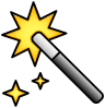 Magic Wand Icon 229981 Color Flipped