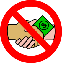 A no money handshake