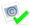 Checked copyright icon