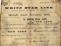 Fahrkarte der Titanic