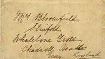 Eva Hart Brief auf der Titanic - wenige Stunden vor dem Untergang