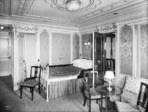 Fotografie einer ersten Klasse Luxuskabine der Titanic