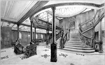 Großes Treppenhaus der ersten Klasse