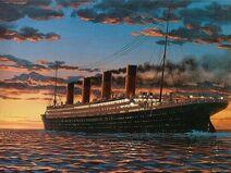 Titanic Schiff in Farbe