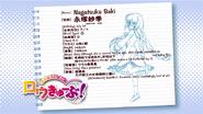 Nagatsuka Saki's info sheet (Season 1)