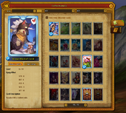 Blue Brown Rackful Card