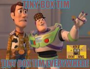 Tiny Box Tim everywhere