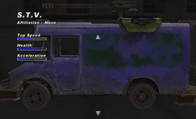 Stv roadkill wiki fandom powered by wikia the stv is a gigantic purple delivery van with a heavy machine gun mounted on top it is unlocked by collecting the parts and blueprint for it in lava malvernweather Choice Image