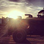 War Rig sunset
