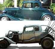 Chevrolet 5 window coupe 1934 the nux car the mad max for 1934 chevy 5 window coupe