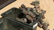 A bin of explosives