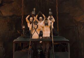 War boys salute