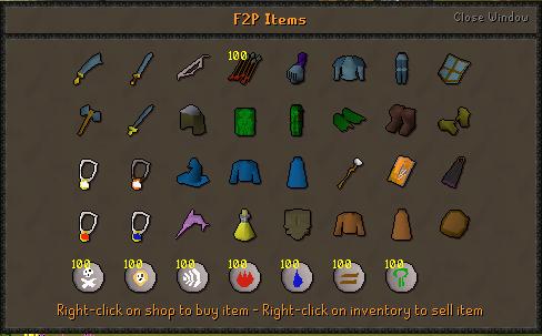 F2P Items