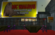 McWalrus at a base