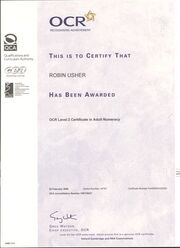 OCR Adult Numeracy certificate - Copy
