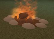 Lit Firepit