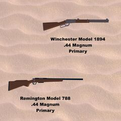 Two guns that will be added, the Winchester Model 1894 and Remington Model 788.