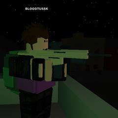 A survivor wearing a dark green military pack.