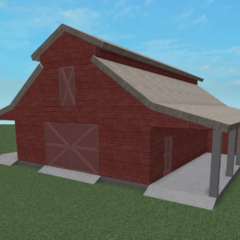 A side shot of a red barn which will feature in AR2.
