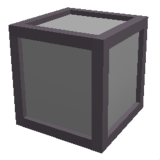 A large crate, with 50 slots to put things in.