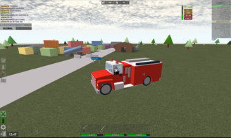 Cheek Pitts and Fire Truck