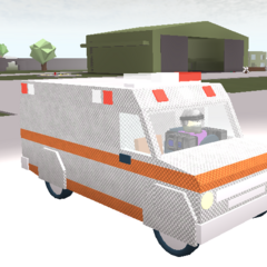 Ambulance with armour. ~seps13 / TuxedoMonkeyYT