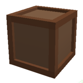 A small crate, with 30 slots to put things in.