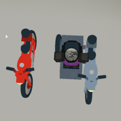 Motorcycles with armour. (B-E-V because you can't see it straight on...) ~seps13 / TuxedoMonkeyYT