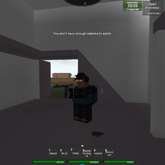 A armed survivor with the black Military Pack