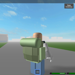 A player with the Backpack. It looks very similar to the Military Backpack.