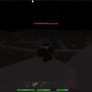 A player stands in front of military airfield (reborn)