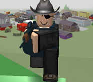 COWBOY HAT AND EYEPATCH