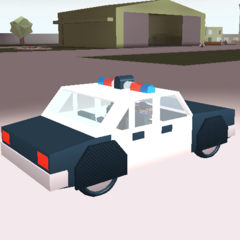 Police car with armour (wheels). ~seps13 / TuxedoMonkeyYT