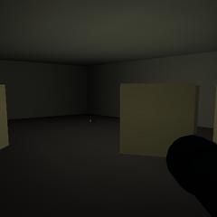 Inside the bunker.