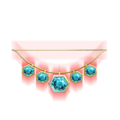 Blue Zircon Amulet