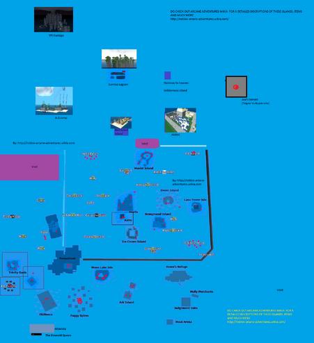 MAP OF ARCANE ADVENTURES