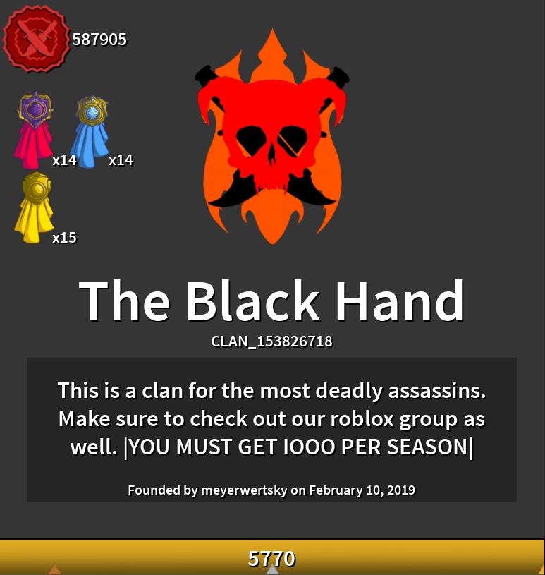 The Black Hand | ROBLOX Assassin! Wikia | FANDOM powered by Wikia