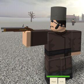 Russian Militia aiming the pistol