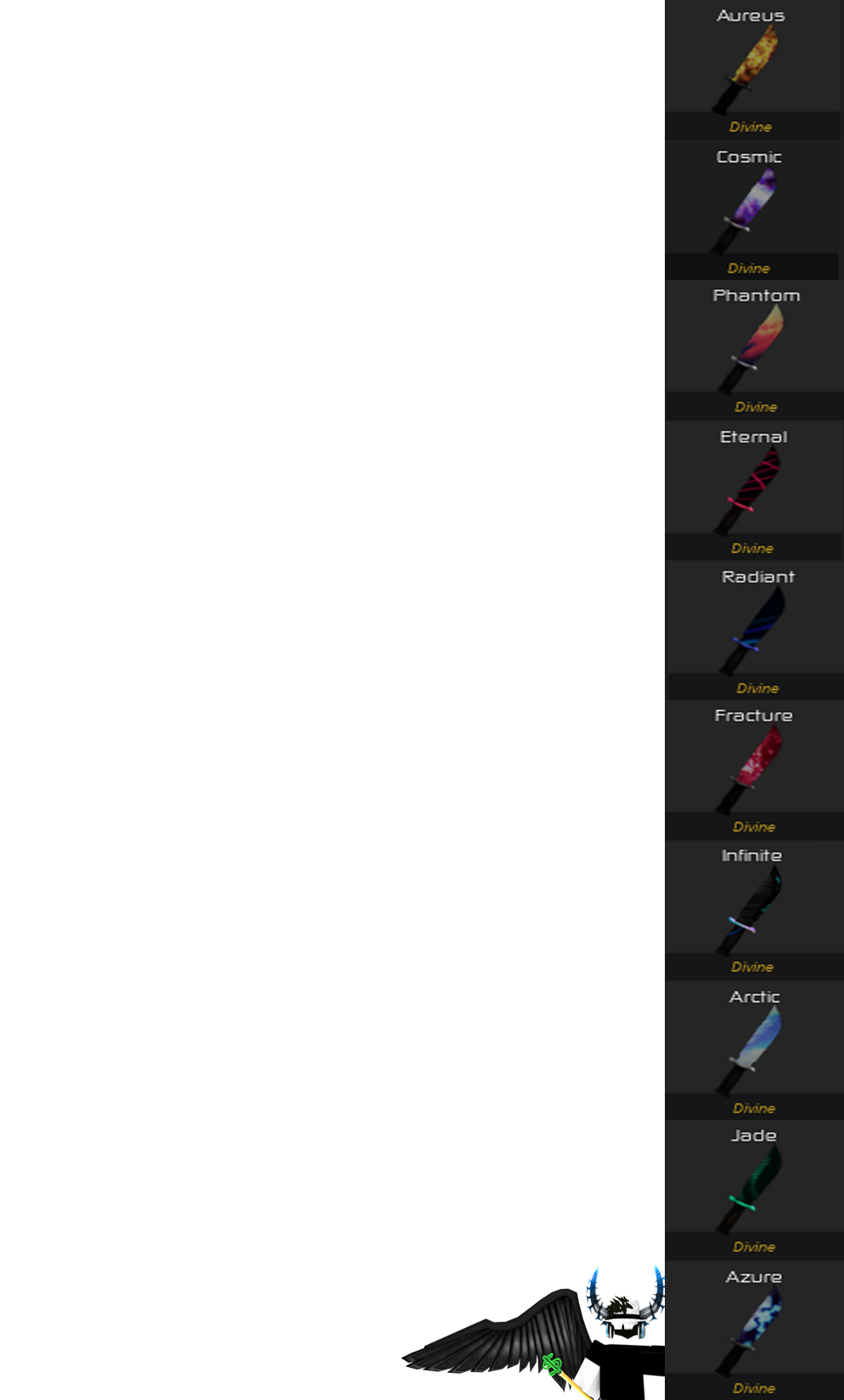 Divine Value List | Roblox Breaking Point Wiki | FANDOM