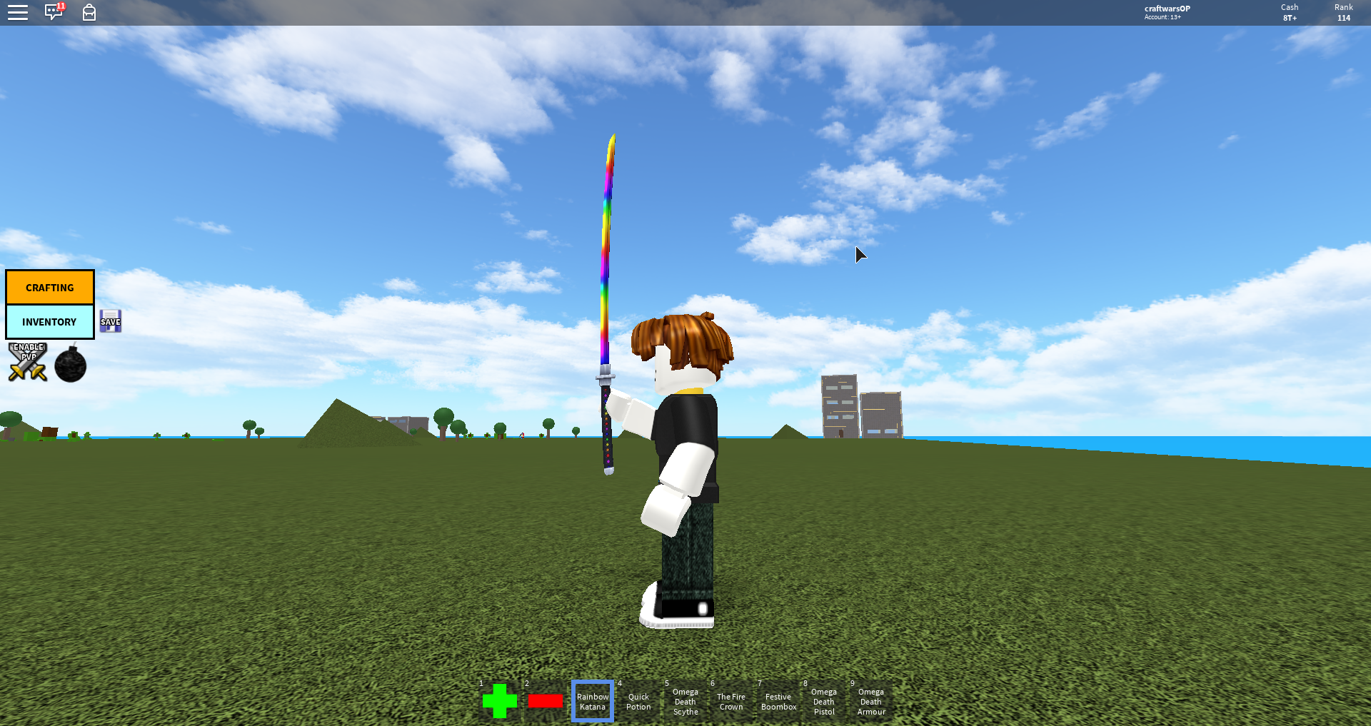 Rainbow Katana Roblox Craftwars Wikia Fandom Powered By Wikia