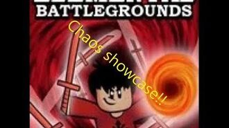 Chaos element showcase and gameplay! (elemental battlegrounds) thanks for 20 subs!! D