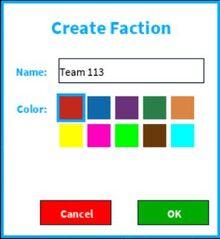 Create a faction