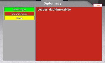 Diplomacy menu
