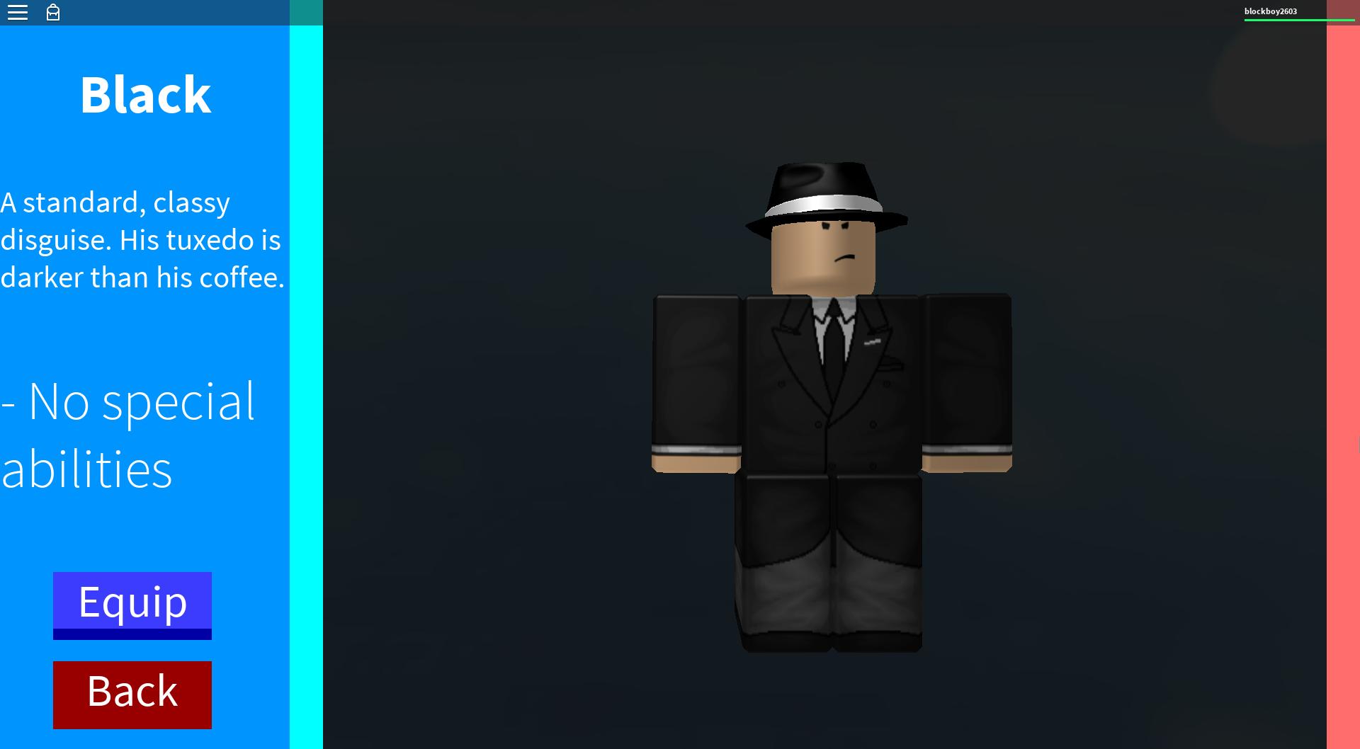 Disguise Black Roblox In Plain Sight Wikia Fandom