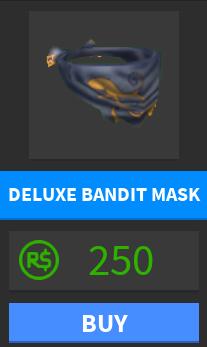 Deluxe Bandit Mask Roblox Medieval Warfare Reforged Wiki Fandom