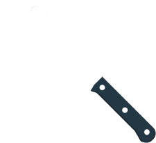 Cleaver angled