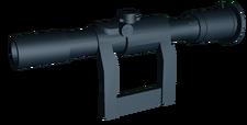 Sniper scope SVU angled