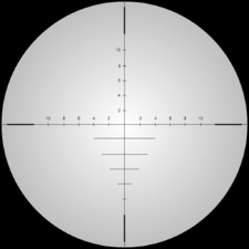 Intervention reticle blur